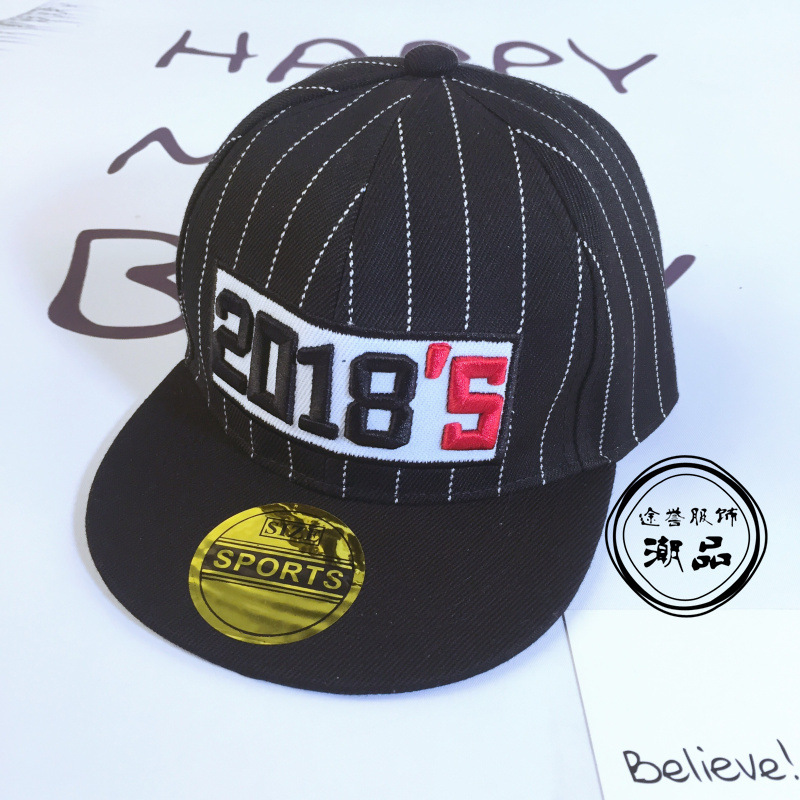 2018 Number Baseball Caps Kids Snapback Hip Hop Cap Boys Girls Sun Hats  Gorras Planas Casquette For 2 6years Old Child-in Baseball Caps from  Apparel ... 28f952471eba