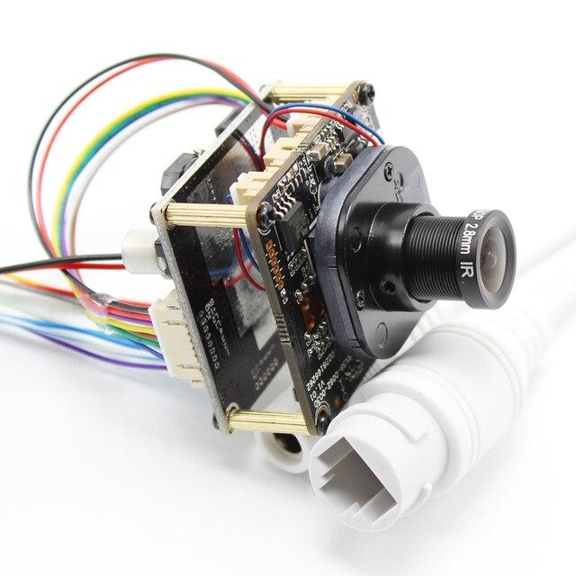 Ahwve poe diy placa do módulo de câmera ip com cabo rj45 ircut interno móvel app xmeye 1080p 2mp hi3518e onvif h264