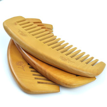 Anti-static Wooden Comb Curved Shape Of Natural Professional DIY Hairstyle Popular Health Care Peach Wood Hair