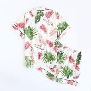 Image 2 - ฤดูร้อนใหม่ชุดนอนชุดนอนแขนสั้นชุดนอนพิมพ์Pijama Mujerผ้าฝ้ายPijama Femmeเซ็กซี่ชุดนอนสบายๆชุดชั้นในชุดชั้นใน