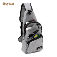 Urban Fashion Polyester Men Messenger Bags Stylish Cross Body Bag High Quality Travel Bags Charging Line