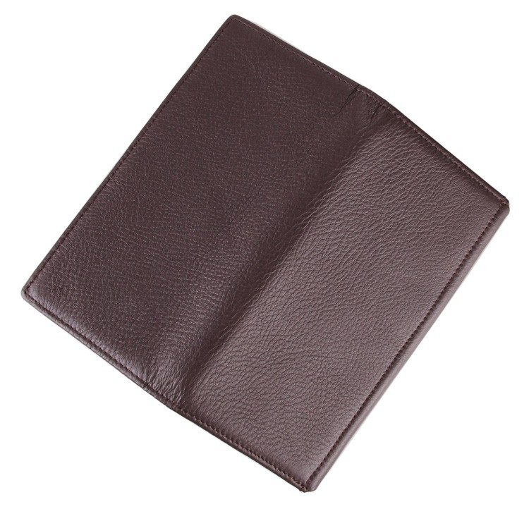 JMD 100 Genuine Leather Long Wallet Coffee Business Card Holder Classic Long Card Case Wallet 8061C in Wallets from Luggage Bags