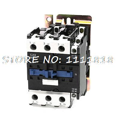 50/60Hz Coil Frequency 3 Phase 1NO 1NC Motor Controller AC Contactor 660V 80A 220v 50 60hz coil voltage 3p 2no 1nc changeover capacitor ac contactor cj19 63