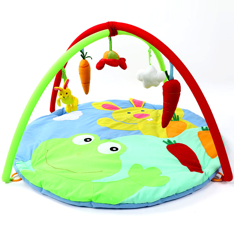 Rabbit Pattern Baby Game Mat Crawl Pad Baby Fitness Support Blanket Portable Bed Fabric Soft 95x95cm