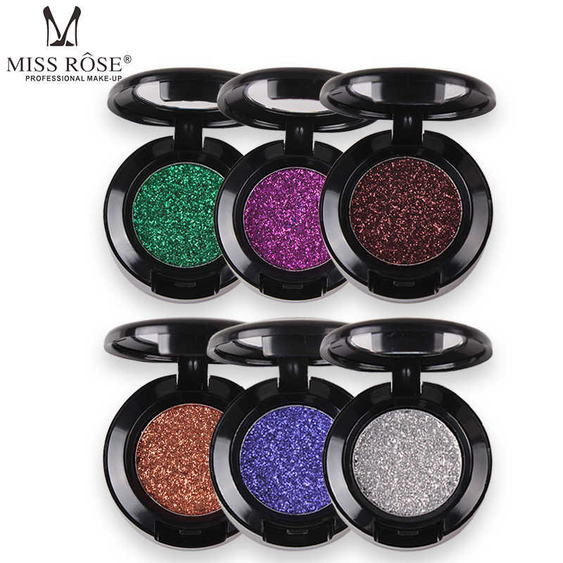 Miss Rose Diamond Glitter Eyeshadow 27 Colors Single Palette Illuminator Makeup Shimmer Metal Eye Shadow Shine Pigment Cosmetics