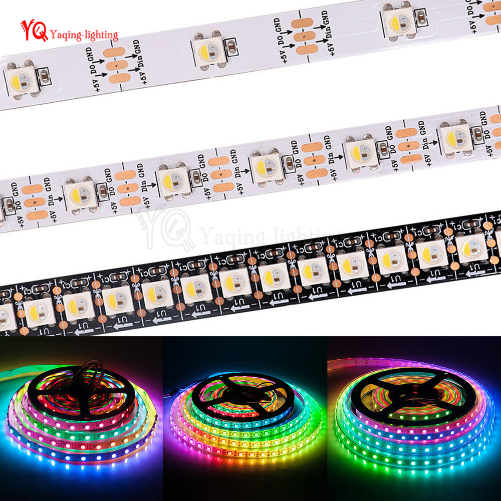 similar Ws2812b 1m/4m/5m Sk6812 Women Rgbw 4 In 1 Pixel Led Strip Rgbcw Rgbnw Rgbww 30/60/144 Leds/pixels/m; Ip20/ip67 5v Suitable For Men And Children