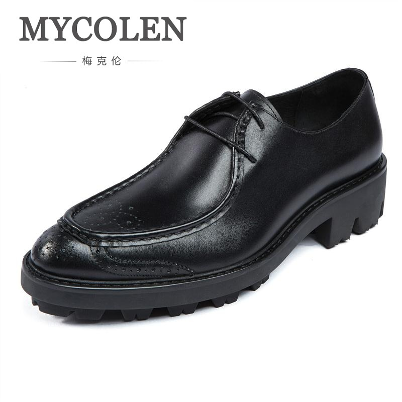 MYCOLEN Luxury Designer Genuine Leather Business Comfortable Dress Men Shoes Brogue Classic Mens Shoes Casual Zapatos De Vestir mycolen luxury designer genuine leather business comfortable dress men shoes brogue classic mens shoes casual zapatos de vestir