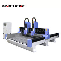 CNC marble engraving machine price cnc stone with two independent heads