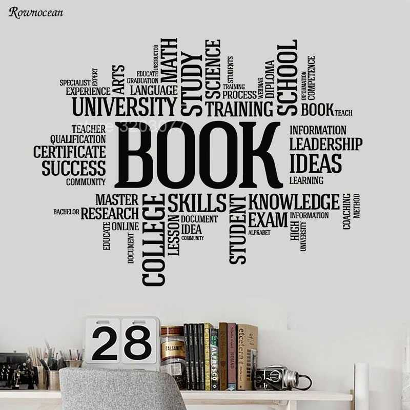 detail feedback questions about big size vinyl wall decal books