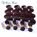 8A Ombre Hair Extensions Brazilian Body Wave 4 Bundles 1b/99J Brazilian Virgin Hair Ombre Brazilian Hair Remy Human Hair