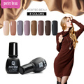 Belle Fille 8pc/set Gel Nail Polish Nude Color Gel Manicure Nail Art Fingernail Bling Glitter Beige Varnish for Girlfriend Gift