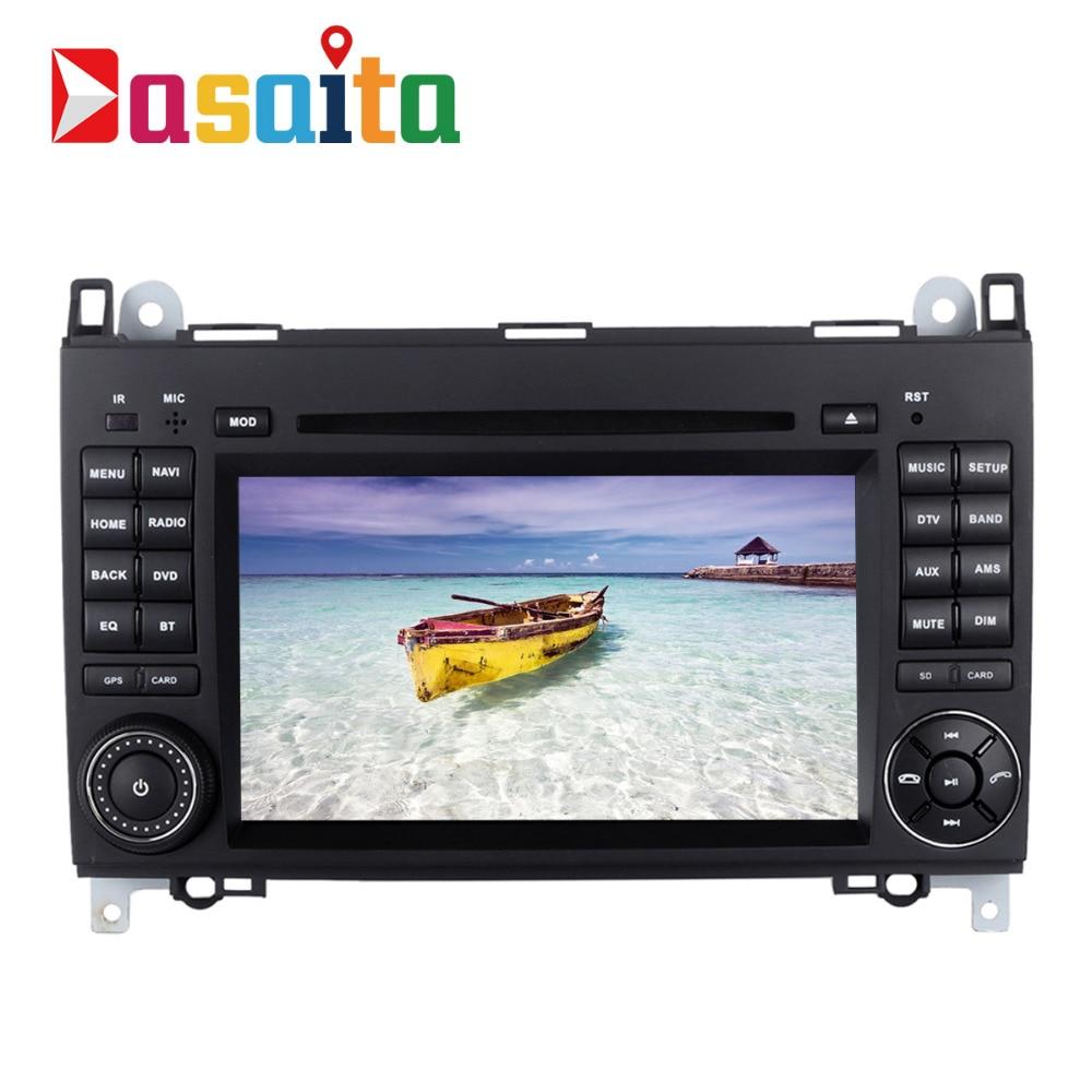 Dasaita 7 Android 7.1 автомобиль GPS dvd-плеер Navi для Mercedes-Benz A B класс Sprinter Vito с 2 г + 16 г 4 ядра стерео Радио HDMI