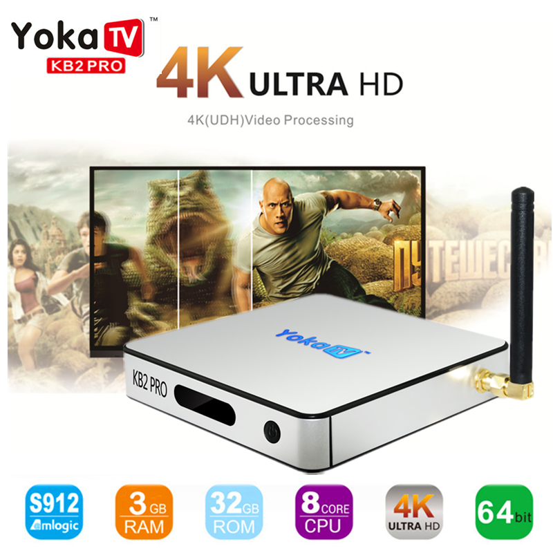Original MECOOL YOKA KB2 PRO Android 6.0 Smart TV Box 3GB 32GB Amlogic S912 Octa core 4K 1000M 5G WiFi BT4.0 Media Player pk x92 new x98 pro android 6 0 tv box 3gb ram 16 rom amlogic s912 octa core smart tv box 2 4g 5 8g dual wifi bt4 0 uhd 4k media player