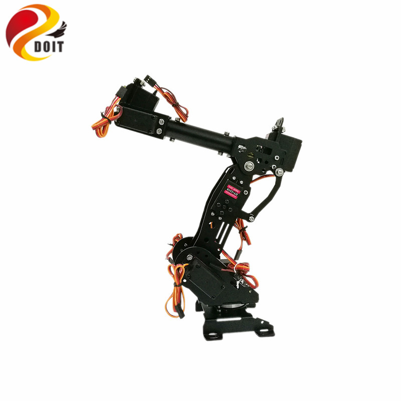 DOIT Metal 7dof Robot Arm+ Arduino kit+ 7pcs MG996r Servos for Arduino Robot Project цена