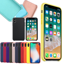 74adff969071 Have LOGO Original Official Style Silicone Case For iPhone X XS MAX XR For  apple Case
