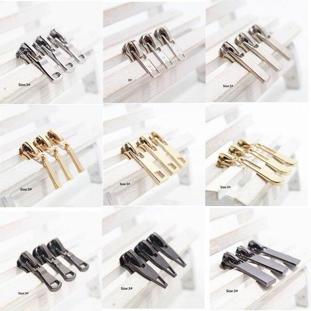 5 Pcs 3 Mix Zipper Repair Kits Zipper Pull Metal Zipper Slider