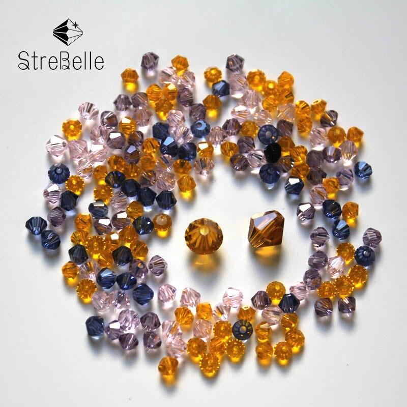 DIY Fashion Jewelry 1000pcs Austria Crystal 4mm bicone beads #5301 U pick colors