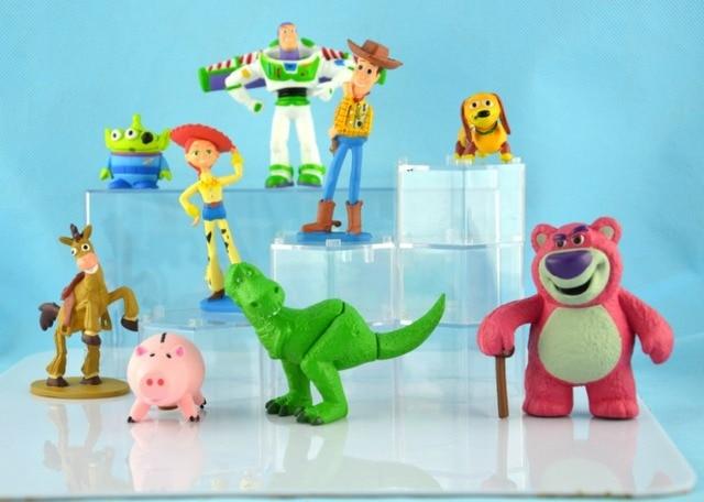 9 unids set 7 8 cm Toy Story 3 Woody Buzz Lightyear Jessie PVC ... c6a927a1635
