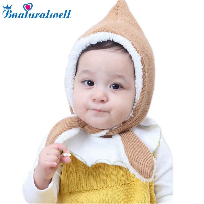 Bnaturalwell Newborn Knit hat Pixie Bonnet Photo prop christening Little girls boys winter knit hat unisex baby hat H082D stylish 3 4 sleeve faux fur embellished down coat for women