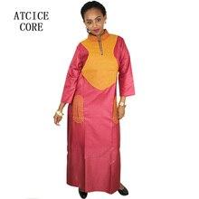 فساتين أفريقية للمرأة مواد لينة التطريز تصميم فستان LA070