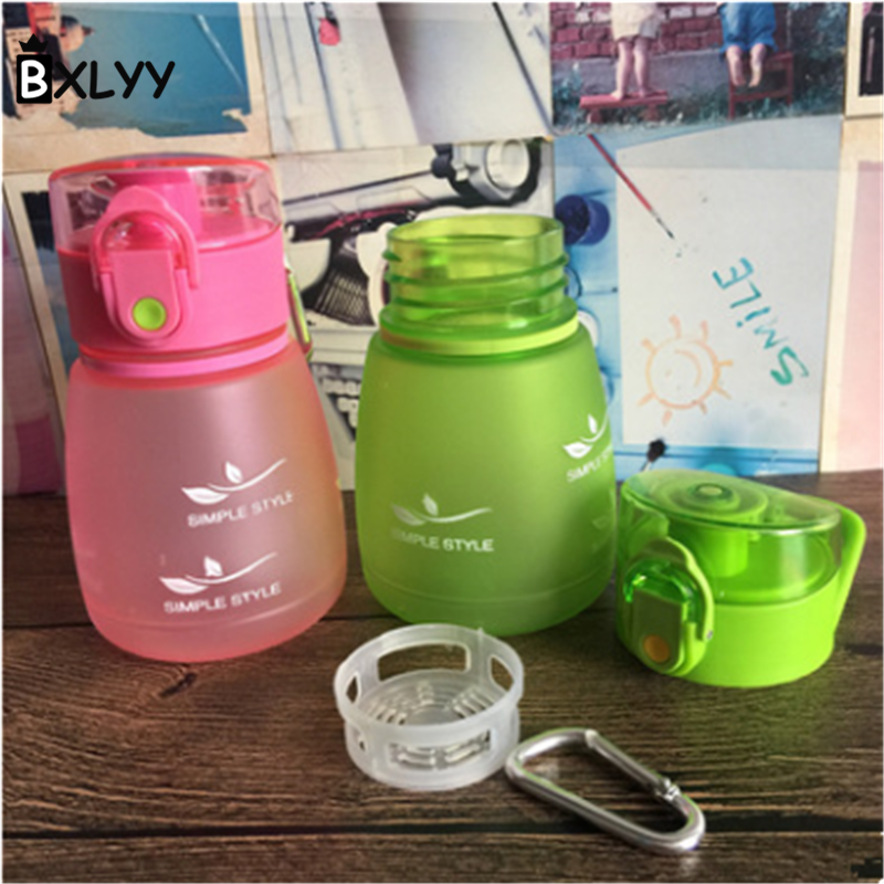 Hot 1pc Plastic Scrub Creative Water Bottle Portable Leakage 248ml Student Party Tourism Sports Horizontal High Temperature