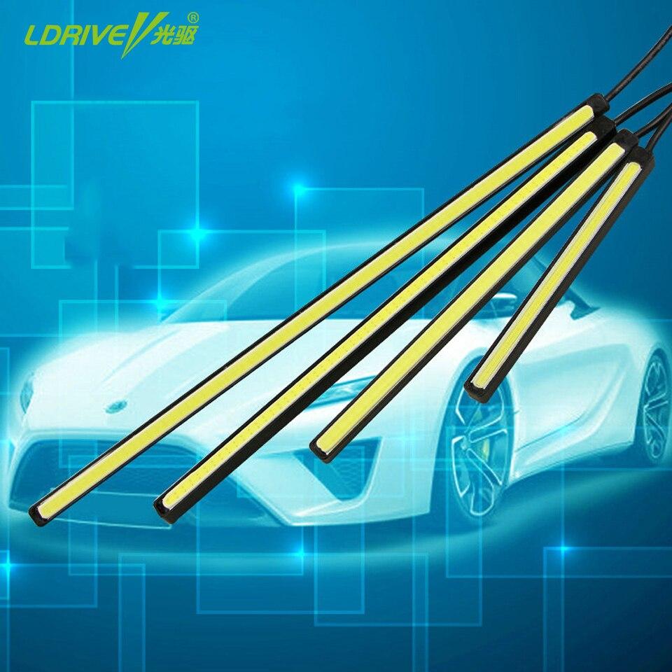 2Pcs/Lot Waterproof LED Daytime Running Light External DRL Car Lights Source Styling Auto Fog Lamp 10.5-24.5CM For <font><b>BMW</b></font> Ford Audi