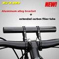 Hohe Qualität MTB Fahrrad Multifunktions Extensio Halterung Auto Halter Halterung Doppel Hebel Carbon Faser Halterung Taschenlampe Halterung