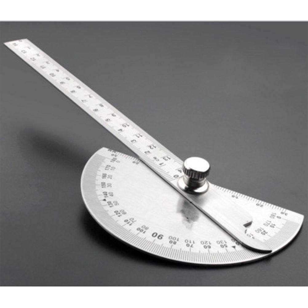 0-180 Degree Angle Ruler Round Head Rotary Protractor 145mm Adjustable Universal Stainless Steel Measuring Tool 2015 new brand 5m roll victorian country style for floral flowers background wallpaper