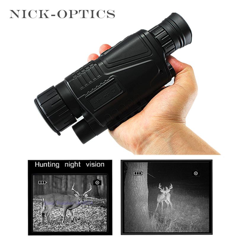 Prix pour Chasse de Vision Nocturne Monoculaire 2017 Tactique Infrarouge de Vision Nocturne Télescope Militaire HD Numérique Monoculaire Télescope Puissant