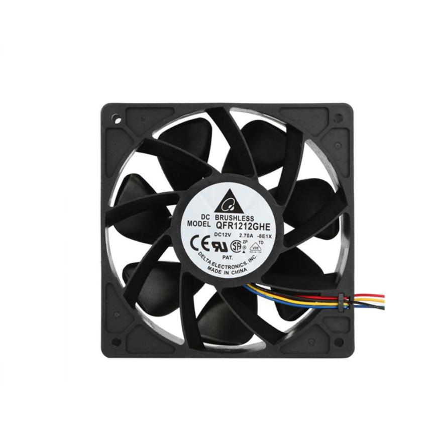 Carprie New 2x 6000RPM Cooling Fan Replacement 4-pin Connector For Antminer Bitmain S7 S9 18Mar12 Drop Ship F 2018 new arrival 7000rpm cooling pc cpu cooler 120 mm fan replacement 4 pin connector for antminer bitmain s7 s9 video card diy