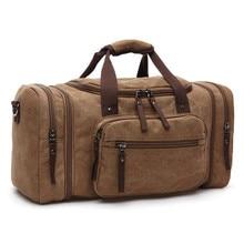 Купить с кэшбэком Canvas handbags For Men Large-Capacity Portable Shoulder Bags Men's Fashion Travel Bags Package Bolso Hombre