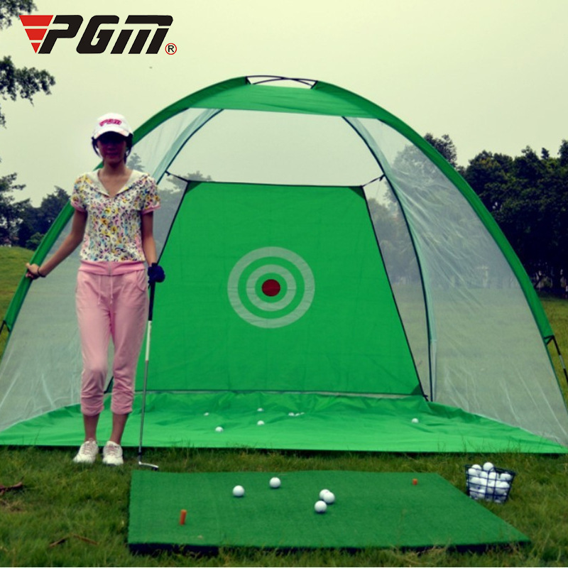 PGM correct golf swing exercises tools trainer training aids swing net mats aids  practice 30x300cm wood indoor golf putting trainer professional practice set training mat mini golf putter green with fairway free ball