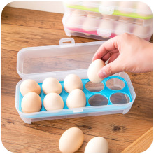 kitchen containers for sale  hot sale kitchen supplied  grids egg storage box colored transparent refrigerator egg container tray plastic egg carrier