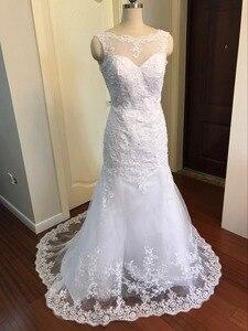 Image 3 - 100% реальные изображения Свадебное Платье женское свадебное платье 2020 женское платье