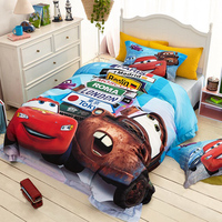 Lightning McQueen Cars 3D Printed Bedding Sets 100 Cotton Bedspread Quilt Duvet Covers Bed Sheet Twin