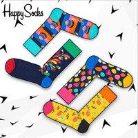 Оптовая продажа 60 пар Happy Socks шведский народная Стиль Для мужчин Для женщин носки эксклюзивный хлопковые носки Meias унисекс носки Harajuku