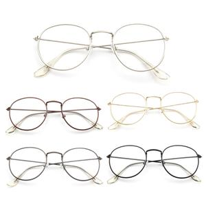 d783f553e9 Vintage Eyeglasses Frame Retro Round Men Women Glasses