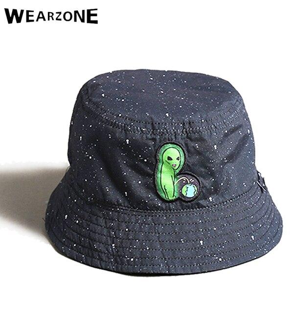 2017 dos lados reversible sombrero del cubo unisex moda Alien hip hop gorro  hombres gorros verano 3d99f3b9dd6