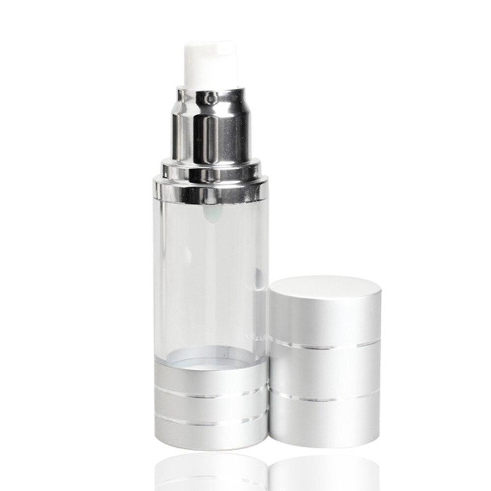 15ML Portable Airless Pump Refillable Bottles Plastic Fine Ms