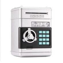 전자 돼지 저금통 ATM 비밀 번호 돈 상자 현금 동전 저장 상자 ATM 은행 안전 상자 아이를위한 자동 스크롤 종이 지폐 선물