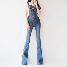 9bb828aab9a1 TIYIHAILEY 2018 Boot Cut Jeans Plus Size 24-30 Pants For Tall Women Overalls  Denim