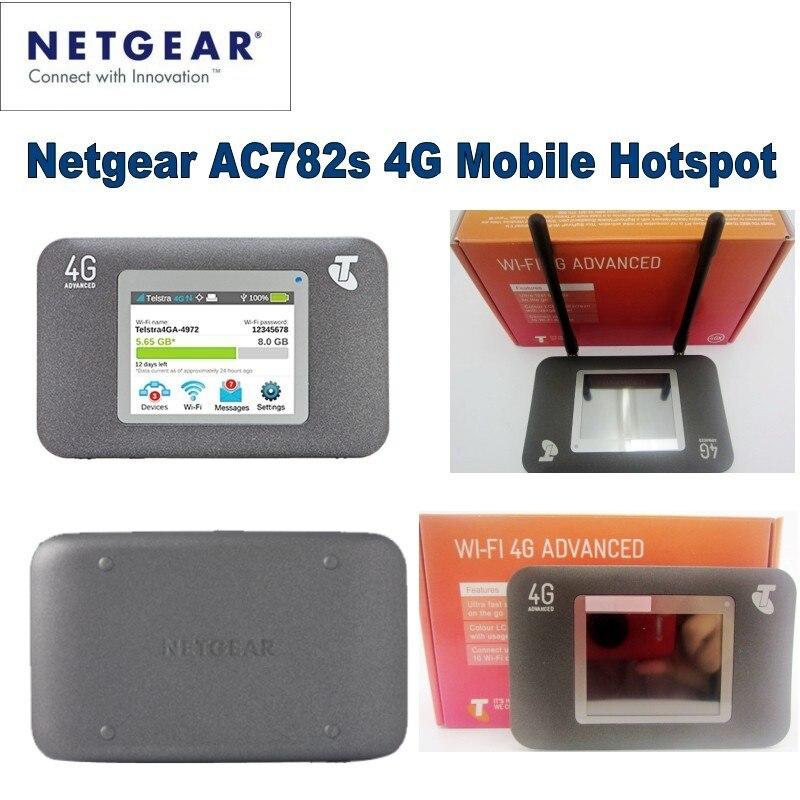 Netgear AirCard 782 S lte desbloqueado 4g wireless router 4g wifi dongle 5 ghz wifi mifi Hotspot Móvel pocket plus 2 pcs antena 4g