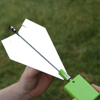 Hot Selling Kids Toys Motor Electric Paper Airplane Model DIY Paper Power Educational Toy