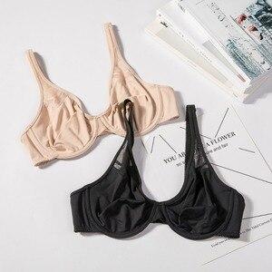 Image 5 - Sutiã de minimização de underwire liso sem forro moldado da empresa da cobertura completa feminina do apoio