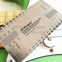 Guitar String Action Ruler Gauge Tool Stainless Steel Double Sided Multi Function Guitar Luthier Accurate String Measurement