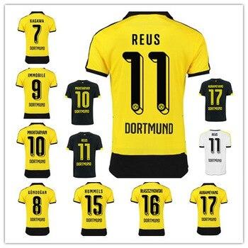 015 2016 Jersey de futbol Borussia Dortmund Maillot MARCO REUS Camiseta  Borussia Dortmund 15 16 BVB Dortmund Camisa futbol 157a3167e4f28