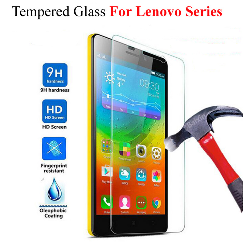 Tempered Glass For Lenovo Vibe P1 Vibe Shot A536 A1000 A2010 A6000 A7000 K3 Note K5 S850 P70 P780 Screen Protector Cover Film