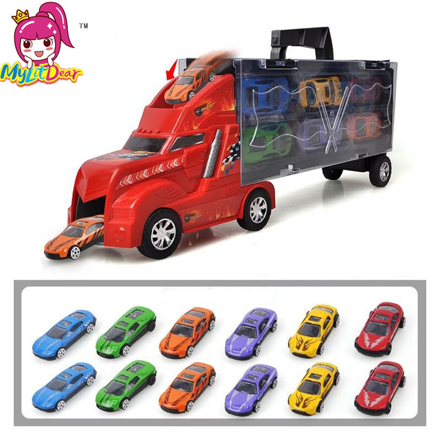 2017 new container truck small alloy models toy car children educational toys simulation model gift for kids boys birthday gifts