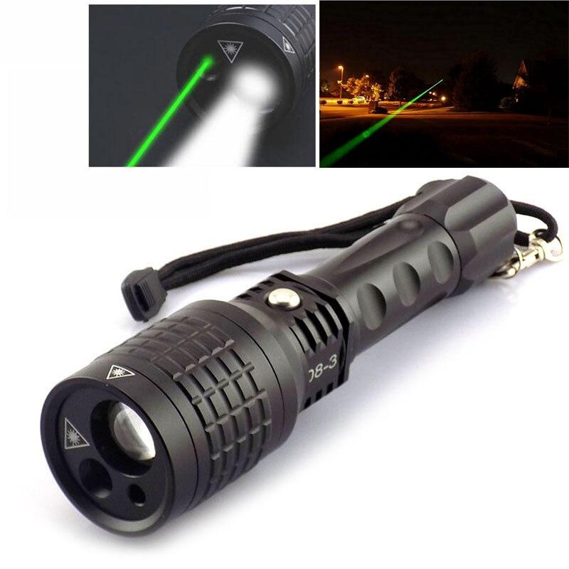 Многофункциональный светодиодный Лазерные фонарики с красный/зеленый цвет лазерная указка свет вспышки света Lazer фонари для тактический О...