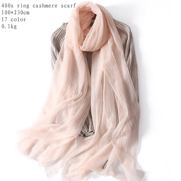 Naizaiga 100 ring Cashmere 100 230cm ladies solid summer thin shawl women brand scarf big size